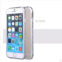 Бампер Silver Luxury SWAROVSKI Diamond Aluminium for iPhone 6. iPhone 6 plus