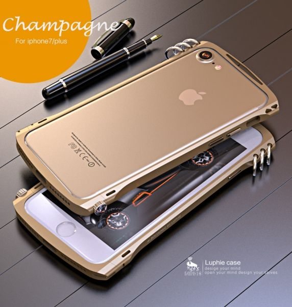 Бампер Alien X1 rotary screw for iPhone 7.7 plus/ 8.8 plus Champagne - Фото 1