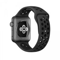 Ремешок Silicone with Flat Black/Black Nike for Apple Watch 38/40/42/44mm