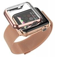 Браслет Apple Watch 38/40/42/44mm with Milanese Rose Gold и накладка HOCO