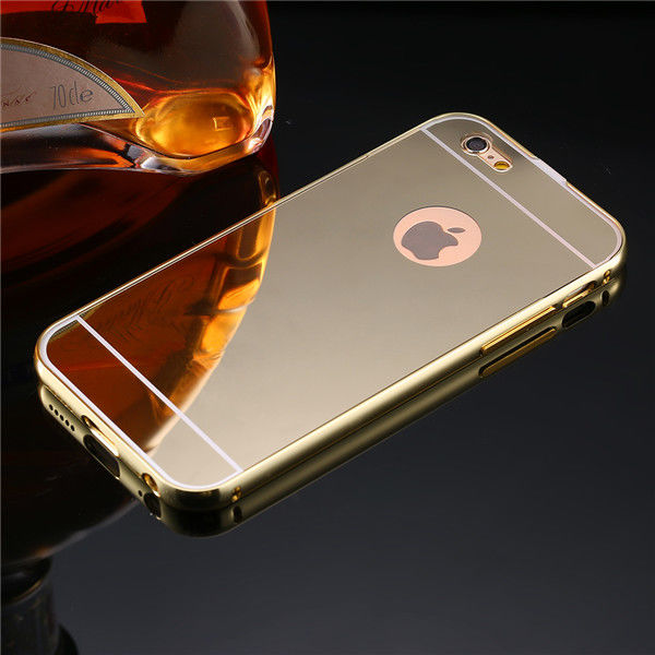 фото Чехол глянец Mirror Gold case for iPhone 6.6s & iPhone 7.7 plus / 8.8 plus