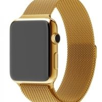 Ремешок Apple Watch 38/40/42/44mm with Milanese Loop (magnetic) Gold
