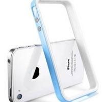 Бампер SGP Case Neo Hybrid 2S Snow Series Tender Blue for iPhone 4/4S