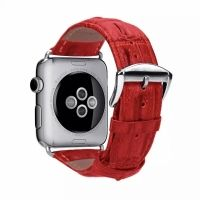 Браслет Leather Croc Skin Effect Apple Watch - 38/40/42/44mm - Red