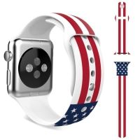 Ремешок Silicone American Flag for Apple Watch 38/40/42/44mm