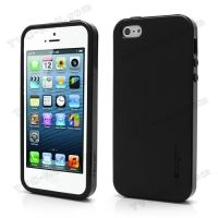 SPIGEN SGP Neo Premium TPU   PC Hybrid Cover Case for iPhone 4.4s.5 - Black, Цена: 287 грн, Фото