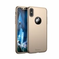 Чехол пластиковый iPhone X/XS IPAKY 360 Full protection Gold, Цена: 628 грн, Фото