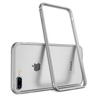 Бампер silicone-aluminium Silver для iPhone 7 plus / iPhone 8 plus, Цена: 427 грн, Фото