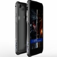 Бампер iPhone 7.7 plus/ 8.8 plus Halberd Rotary snap Aluminum Grey