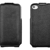Чехол кожаный flip leather black iPhone 4.4s
