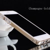 Бампер Cross-Line Aluminum Ultrathin 0.7мм Champagne iPhone 5.5s оригинал