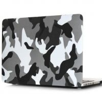 Чехол пласиковый для MacBook Air 13.3 Pro 13/15 retina Military Camouflage Grey