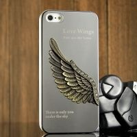 Harley Inspired Wing 3D Case Silver for iPhone 4.4S и для iPhone 5