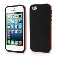 SPIGEN SGP Neo Premium TPU + PC Hybrid Cover Case for iPhone 4.4s.5 - Black / Red
