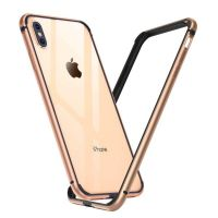 Бампер Silicone-Aluminium для iPhone X/Xs Gold, Цена: 452 грн, Фото
