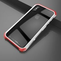 Чехол Element Case Template Glass  For iPhone X/10 Silver-Red