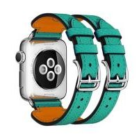 Ремешок для Apple Watch 42/44mm Hermes Double Buckle Cuff Green