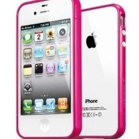 Бампер пластиковый SGP Case Linear EX Color Series Hotpink for iPhone 4/4s
