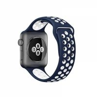 Ремешок Silicone with Blue/White Nike for Apple Watch 38/42mm