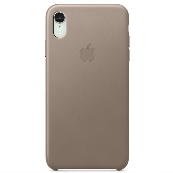 фото Чехол iPhone XR Leather Case - Taupe