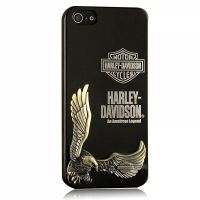 Harley Davidson 3D Case Black for iPhone 4.4s и для iPhone 5