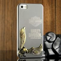 Harley Davidson 3D Case Silver for iPhone 4.4s и для iPhone 5