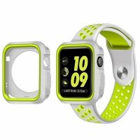 Ремешок Silicone Green/Grey Nike for Apple Watch 38/42mm + накладка