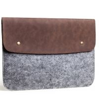 Чехол из войлока Gmakin для MacBook Air 11.6/13.3 pro 13/15 (retina) Felt & Brown Leather Vintage, Цена: 552 грн, Фото