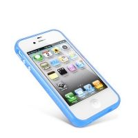 Бампер пластиковый SGP Case Linear EX Color Series blue for iPhone 4/4s
