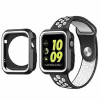 Ремешок Silicone White/Black Nike for Apple Watch 38/42mm + накладка
