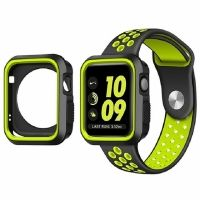 Ремешок Silicone Green/Black Nike for Apple Watch 38/42mm + накладка