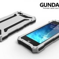 R-JUST Gundam 2 Waterproof Silver Metal Case For iPhone 5.5s.5SE