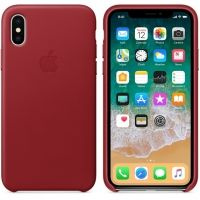 Чехол iPhone X/XS Leather Case - (PRODUCT) RED