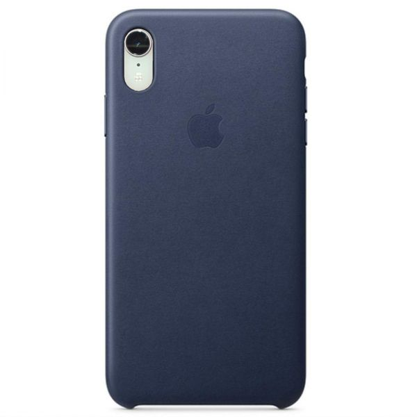 фото Чехол iPhone XR Leather Case - Midnight Blue