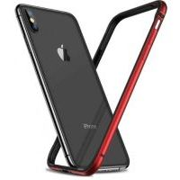 Бампер Silicone-Aluminium для iPhone X/Xs Red