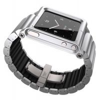 Чехол LunaTik Lynk iPod Nano Watch Band Silver