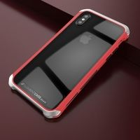 Чехол Element Case Template Glass  For iPhone X/10 Red-Silver
