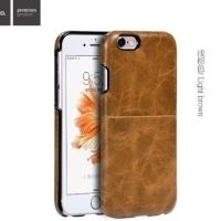 Чехол кожаный НОСО Platinum Series for iPhone 6. 6S/ 6 Plus - Light Brown