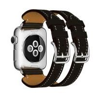 Ремешок для Apple Watch 42/44mm Hermes Double Buckle Cuff Black