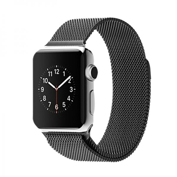 фото Ремешок Apple Watch 38/40/42/44mm with Milanese Loop (magnetic) Black