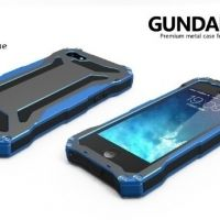 R-JUST Gundam 2 Waterproof Blue Metal Case For iPhone 5.5s.5SE