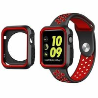 Ремешок Silicone Red/Black Nike for Apple Watch 38/40/42/44mm и  накладка