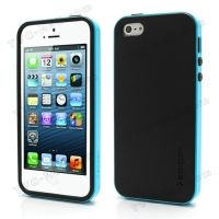 SPIGEN SGP Neo Premium TPU + PC Hybrid Cover Case for iPhone 4.4s.5 - Black / Blue