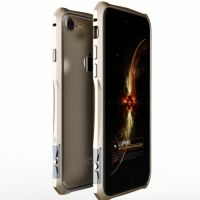 Бампер iphone 7.7 plus/ 8.8 plus Halberd Rotary snap Aluminum Gold