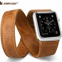Ремешок кожаный JisonCase Extra Long Band brown Apple Watch 38/40/42/44mm