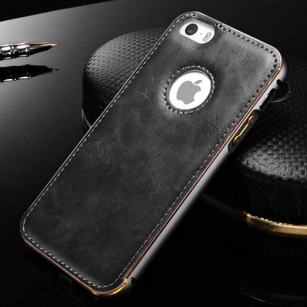 фото Чехол Cross Leather Grey - bumper grey for iPhone 5.5s / 6.6s