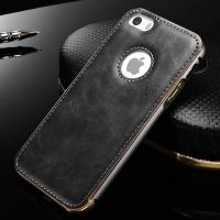Чехол Cross Leather Grey - bumper grey for iPhone 5.5s / 6.6s