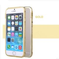 Бампер Gold Luxury SWAROVSKI Diamond Aluminium for iPhone 6. iPhone 6 plus