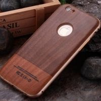 ����� Wood Grain Pattern Cover Case Metal Frame Bumper For iPhone 6. 6s �3