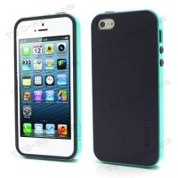 SPIGEN SGP Neo Premium TPU + PC Hybrid Cover Case for iPhone 4.4s.5 - Purple / Cyan